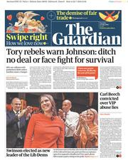 The Guardian (UK) Newspaper Front Page for 23 July 2019