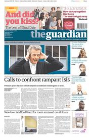 The Guardian (UK) Newspaper Front Page for 23 August 2014