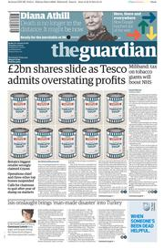 The Guardian (UK) Newspaper Front Page for 23 September 2014
