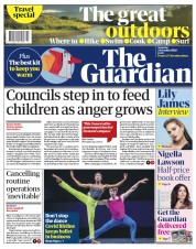 The Guardian front page for 24 October 2020