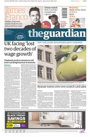 The Guardian (UK) Newspaper Front Page for 24 November 2017