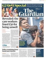 The Guardian (UK) Newspaper Front Page for 24 December 2018