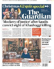 The Guardian () Newspaper Front Page for 24 December 2019
