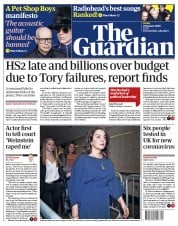 The Guardian (UK) Newspaper Front Page for 24 January 2020