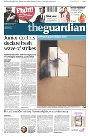 The Guardian (UK) Newspaper Front Page for 24 February 2016