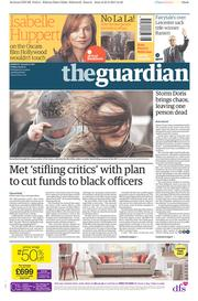 The Guardian (UK) Newspaper Front Page for 24 February 2017