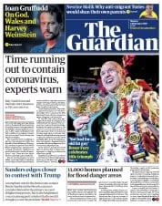 The Guardian (UK) Newspaper Front Page for 24 February 2020