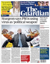 The Guardian (UK) Newspaper Front Page for 24 July 2020