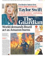 The Guardian () Newspaper Front Page for 24 August 2019