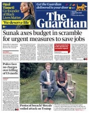 The Guardian front page for 24 September 2020