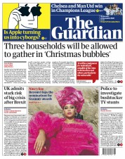 The Guardian front page for 25 November 2020