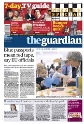 The Guardian (UK) Newspaper Front Page for 25 December 2017