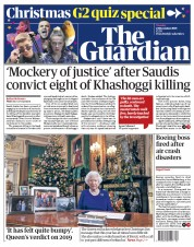 The Guardian (UK) Newspaper Front Page for 25 December 2019
