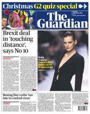 The Guardian (UK) Newspaper Front Page for 25 December 2020
