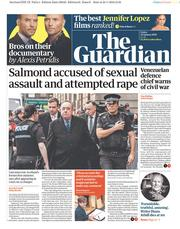 The Guardian (UK) Newspaper Front Page for 25 January 2019