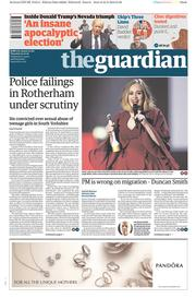 The Guardian (UK) Newspaper Front Page for 25 February 2016