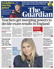 The Guardian front page for 25 February 2021