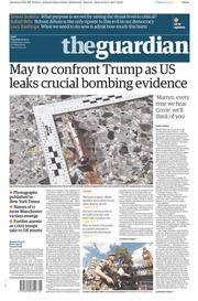The Guardian (UK) Newspaper Front Page for 25 May 2017