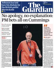 The Guardian front page for 25 May 2020