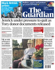 The Guardian front page for 25 June 2020