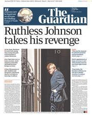 The Guardian (UK) Newspaper Front Page for 25 July 2019