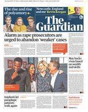 The Guardian (UK) Newspaper Front Page for 25 September 2018