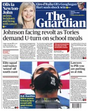 The Guardian front page for 26 October 2020