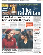 The Guardian (UK) Newspaper Front Page for 26 December 2018