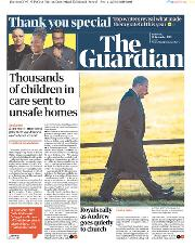 The Guardian (UK) Newspaper Front Page for 26 December 2019