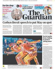 The Guardian (UK) Newspaper Front Page for 26 February 2018