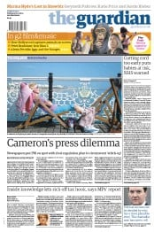 The Guardian () Newspaper Front Page for 26 April 2013