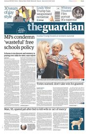 The Guardian (UK) Newspaper Front Page for 26 April 2017