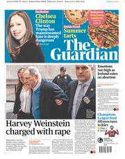The Guardian (UK) Newspaper Front Page for 26 May 2018