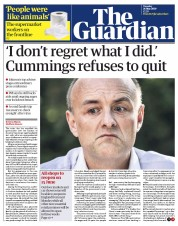 The Guardian front page for 26 May 2020
