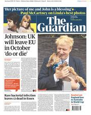 The Guardian (UK) Newspaper Front Page for 26 June 2019