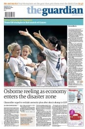 The Guardian Newspaper Front Page (UK) for 26 July 2012