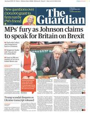 The Guardian (UK) Newspaper Front Page for 26 September 2019