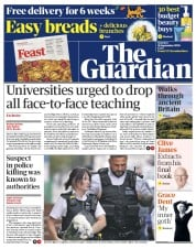 The Guardian front page for 26 September 2020
