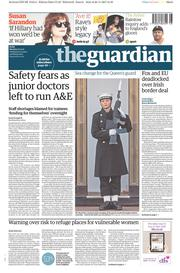 The Guardian (UK) Newspaper Front Page for 27 November 2017