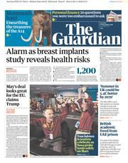 The Guardian (UK) Newspaper Front Page for 27 November 2018