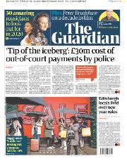 The Guardian (UK) Newspaper Front Page for 27 December 2019