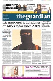 The Guardian (UK) Newspaper Front Page for 27 February 2015