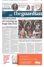 The Guardian (UK) Newspaper Front Page for 27 February 2017
