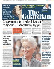 The Guardian (UK) Newspaper Front Page for 27 February 2019