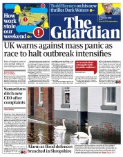 The Guardian (UK) Newspaper Front Page for 27 February 2020