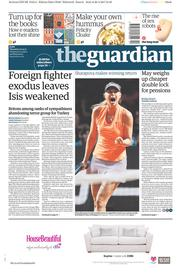 The Guardian (UK) Newspaper Front Page for 27 April 2017