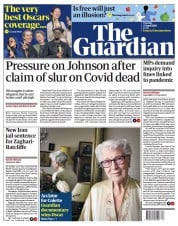 The Guardian () Newspaper Front Page for 27 April 2021