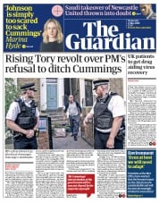 The Guardian (UK) Newspaper Front Page for 27 May 2020