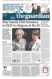 The Guardian (UK) Newspaper Front Page for 27 June 2017
