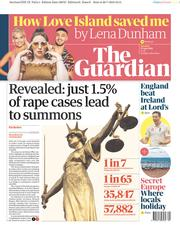 The Guardian (UK) Newspaper Front Page for 27 July 2019